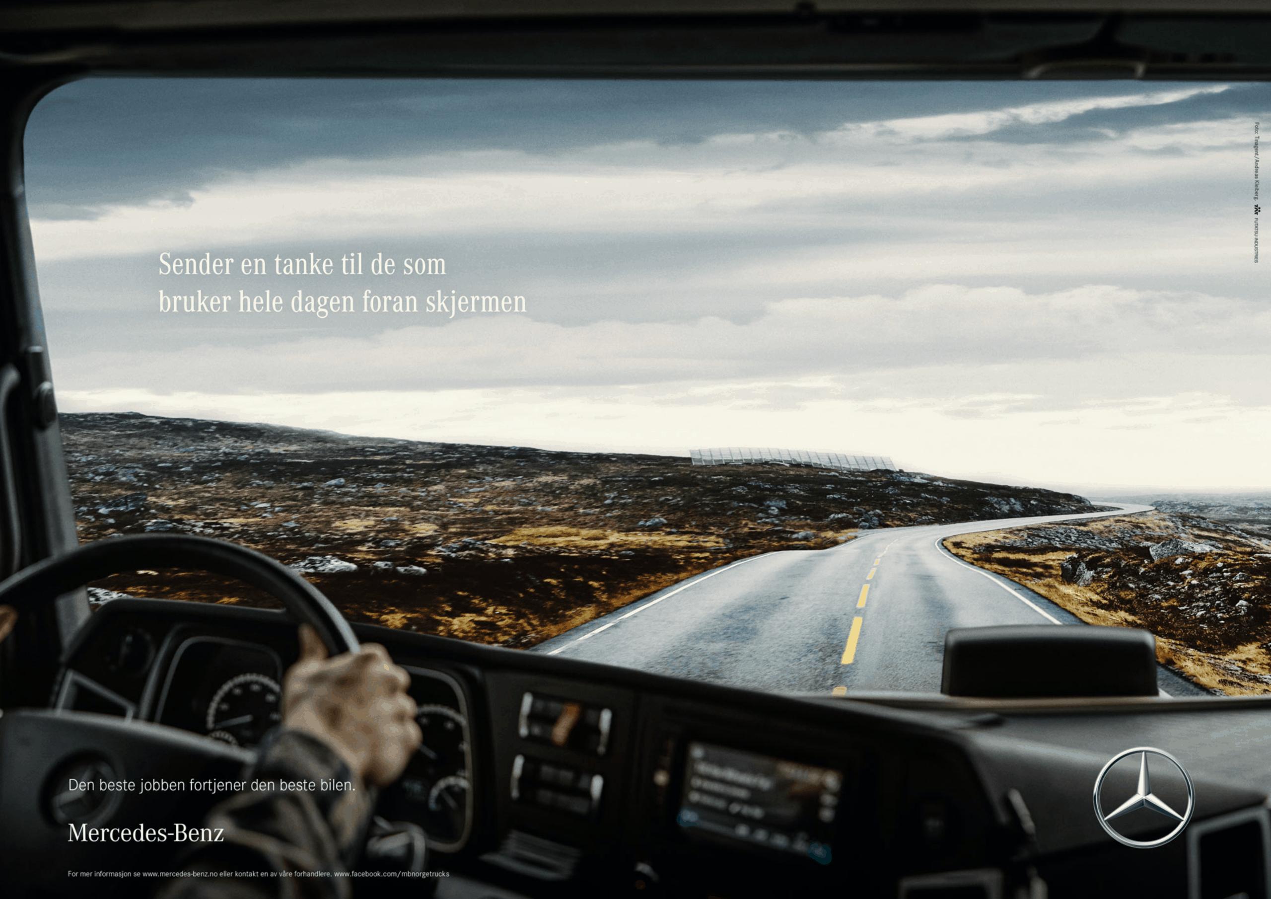 Mercedes-Benz trucks print advertisement