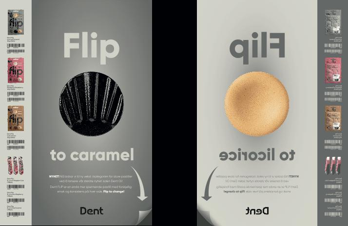 Dent flip caramel-licorice